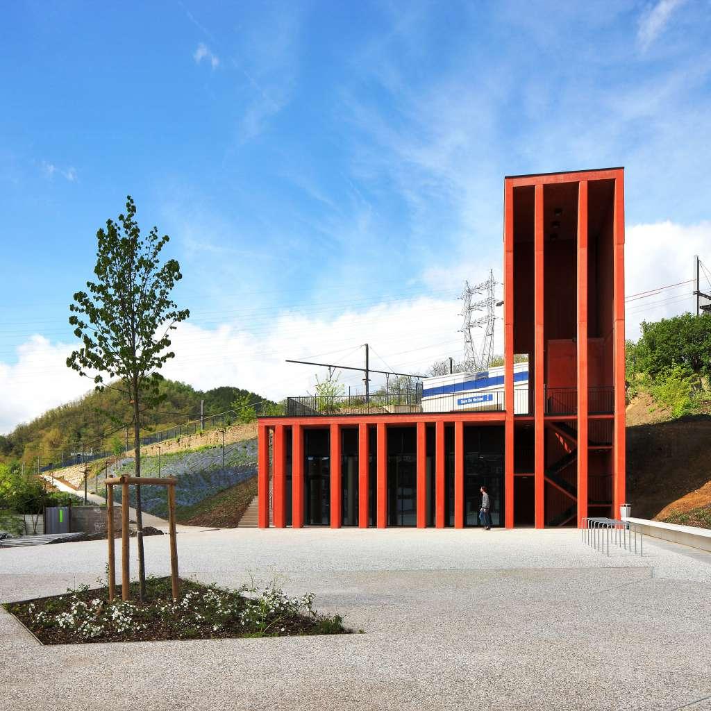 Construction de la Gare ferroviaire (Herstal)